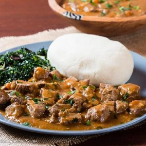 Beef Stew With accompaniment